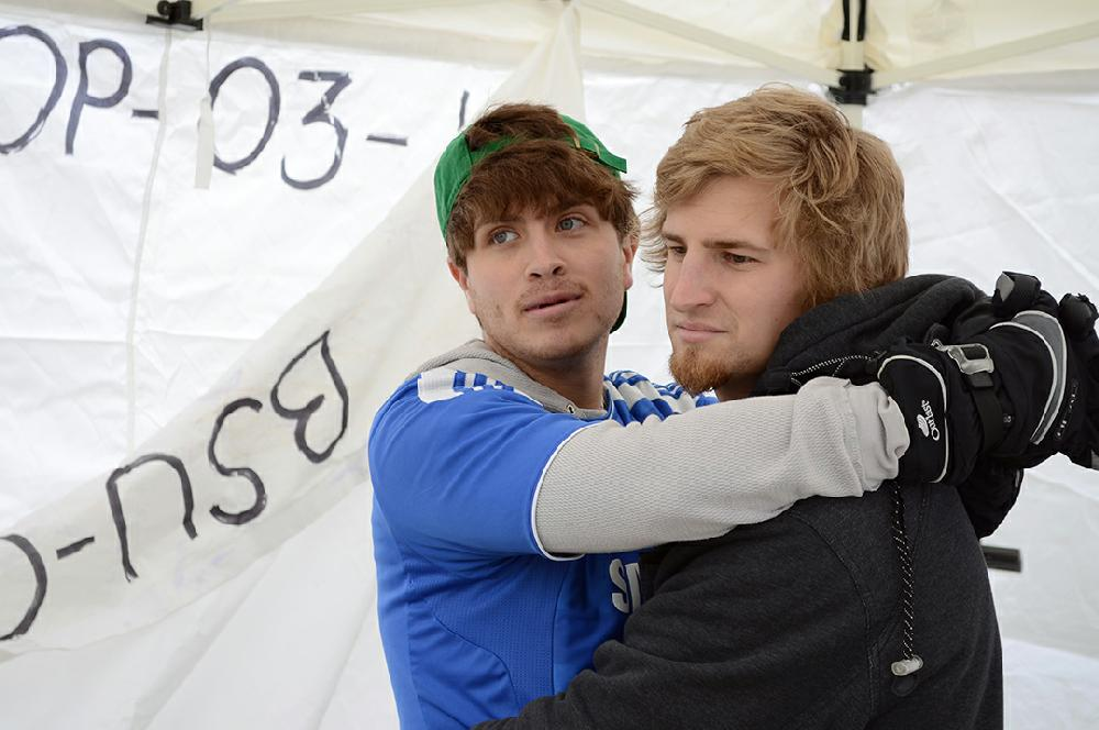 Students attempt to break record for hugging